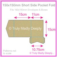 150mm Square Short Side Pocket Fold - Mohawk Via Vellum Kraft