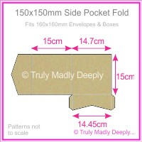 150mm Square Side Pocket Fold - Mohawk Via Vellum Kraft