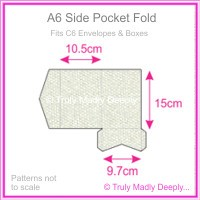 A6 Pocket Fold - Pearl Textures Collection Embossed Satin