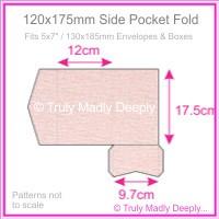 120x175mm Pocket Fold - Rives Ice Pink