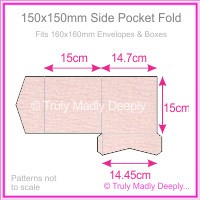 150mm Square Side Pocket Fold - Rives Ice Pink