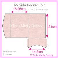 A5 Pocket Fold - Rives Ice Pink