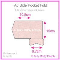 A6 Pocket Fold - Rives Ice Pink