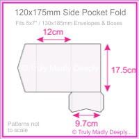120x175mm Pocket Fold - Semi Gloss White 315gsm