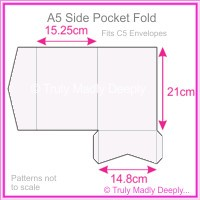 A5 Pocket Fold - Semi Gloss White 235gsm
