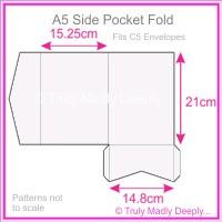 A5 Pocket Fold - Semi Gloss White 315gsm