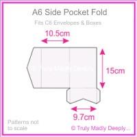 A6 Pocket Fold - Semi Gloss White 235gsm