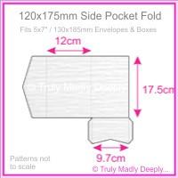 120x175mm Pocket Fold - Semi Gloss White Lumina