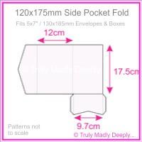 120x175mm Pocket Fold - Splendorgel White