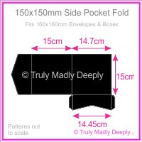 150mm Square Side Pocket Fold - Starblack