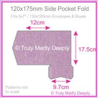 120x175mm Pocket Fold - Stardream Metallic Amethyst