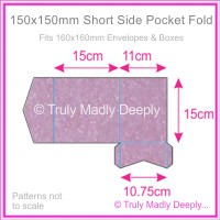 150mm Square Short Side Pocket Fold - Stardream Metallic Amethyst