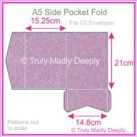 A5 Pocket Fold - Stardream Metallic Amethyst