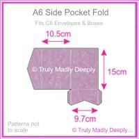 A6 Pocket Fold - Stardream Metallic Amethyst