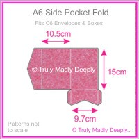 A6 Pocket Fold - Stardream Metallic Azalea