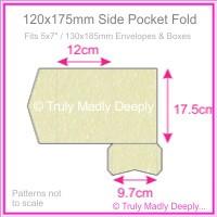 120x175mm Pocket Fold - Stardream Metallic Opal