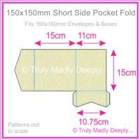 150mm Square Short Side Pocket Fold - Stardream Metallic Opal