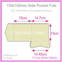 150mm Square Side Pocket Fold - Stardream Metallic Opal