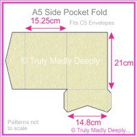 A5 Pocket Fold - Stardream Metallic Opal - 50Pck Special