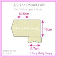 A6 Pocket Fold - Stardream Metallic Opal