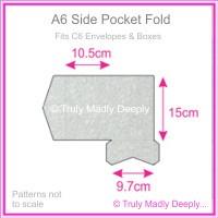 A6 Pocket Fold - Stardream Metallic Silver