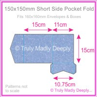 150mm Square Short Side Pocket Fold - Stardream Metallic Vista