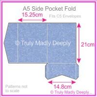 A5 Pocket Fold - Stardream Metallic Vista