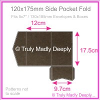120x175mm Pocket Fold - Urban Brown
