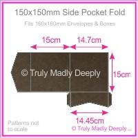 150mm Square Side Pocket Fold - Urban Brown