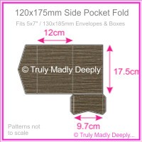 120x175mm Pocket Fold - Urban Brown Ripple