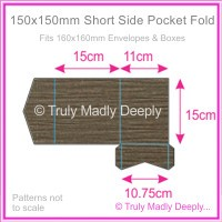 150mm Square Short Side Pocket Fold - Urban Brown Ripple