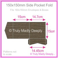 150mm Square Side Pocket Fold - Urban Brown Ripple