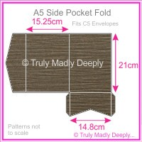 A5 Pocket Fold - Urban Brown Ripple