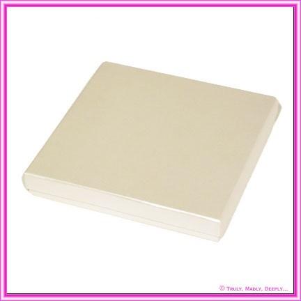 Square Invitation Box - Pearl White 160x160x22 (Rigid)