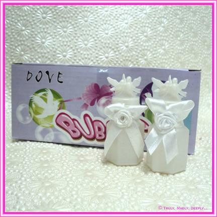 Wedding Bubbles Doves - Box of 24