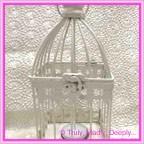 Wedding Card Bird Cage - Metal 9x9x20cm
