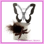 Bomboniere Butterfly Chair Box - Urban Brown (Matte)