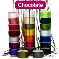 2.5mm China Knot Satin Cord - 100Mtr Roll - Chocolate Brown