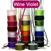 2.5mm China Knot Satin Cord - 100Mtr Roll - Wine Violet