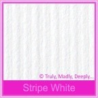Classique Striped White 216gsm Matte Card Stock - A4 Sheets