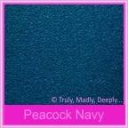 Classique Metallics Peacock Navy 120gsm Paper - A4 Sheets