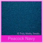 Classique Metallics Peacock Navy 120gsm - 160x160mm Square Envelopes