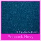 Bomboniere Box - 3 Chocolates - Classique Metallics Peacock Navy