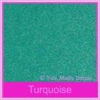Classique Metallics Turquoise 120gsm - 130x130mm Square Envelopes