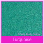 Bomboniere Box - 10cm Cube - Classique Metallics Turquoise