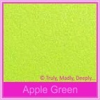 Crystal Perle Apple Green 125gsm Metallic - 5x7 Inch Envelopes