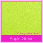 Bomboniere Box - 5cm Cube - Crystal Perle Apple Green (Metallic)
