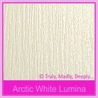 Bomboniere Box - 10cm Cube - Crystal Perle Arctic White Lumina (Metallic)