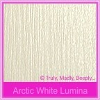Crystal Perle Arctic White Lumina 300gsm Metallic Card Stock - A4 Sheets