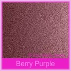 Bomboniere Box - 10cm Cube - Crystal Perle Berry Purple (Metallic)